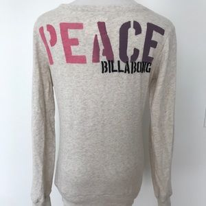 Billabong peace pull over sweatshirt